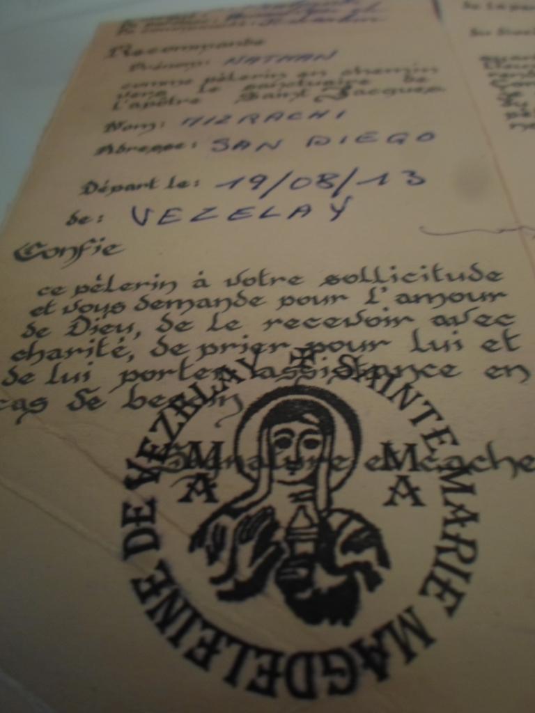 My passport to Santiago de Compostela